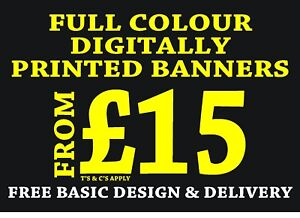 PERSONALISED SUMMER FAIR PVC OUTDOOR BANNER  2FT X 6FT