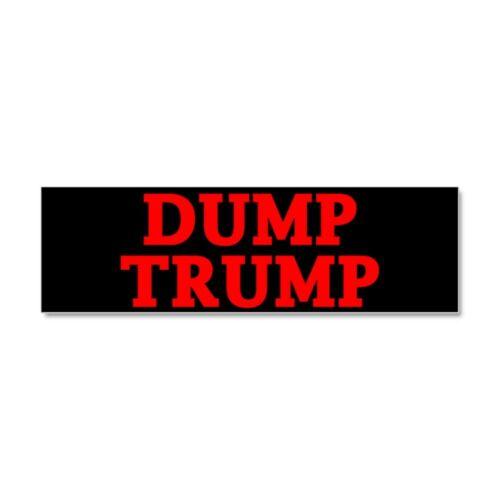 CafePress Dump Trump Car Magnet 10 x 3 1697203533 Magnetic Bumper Sticker