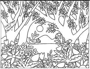 RUG-HOOK-PAPER-PATTERN-Lake-Cottages-FOLK-ART-ABSTRACT-PRIMITIVE-Karla-Gerard