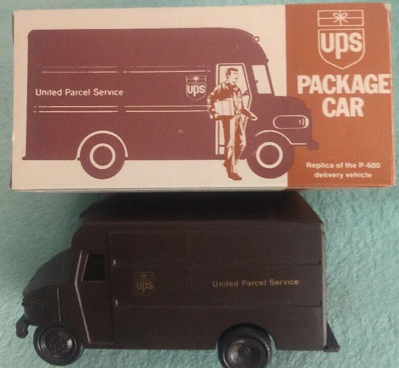 Vintage Plastik Reibung Ups Verpackung Car, P-600 Kopie, Zirka 1977, Orig Kiste