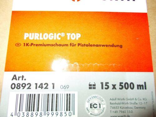 500 ml Neu Nur noch wenige da.15 Dosen//1 Karton Purlogik Top 1K-Pistolensch