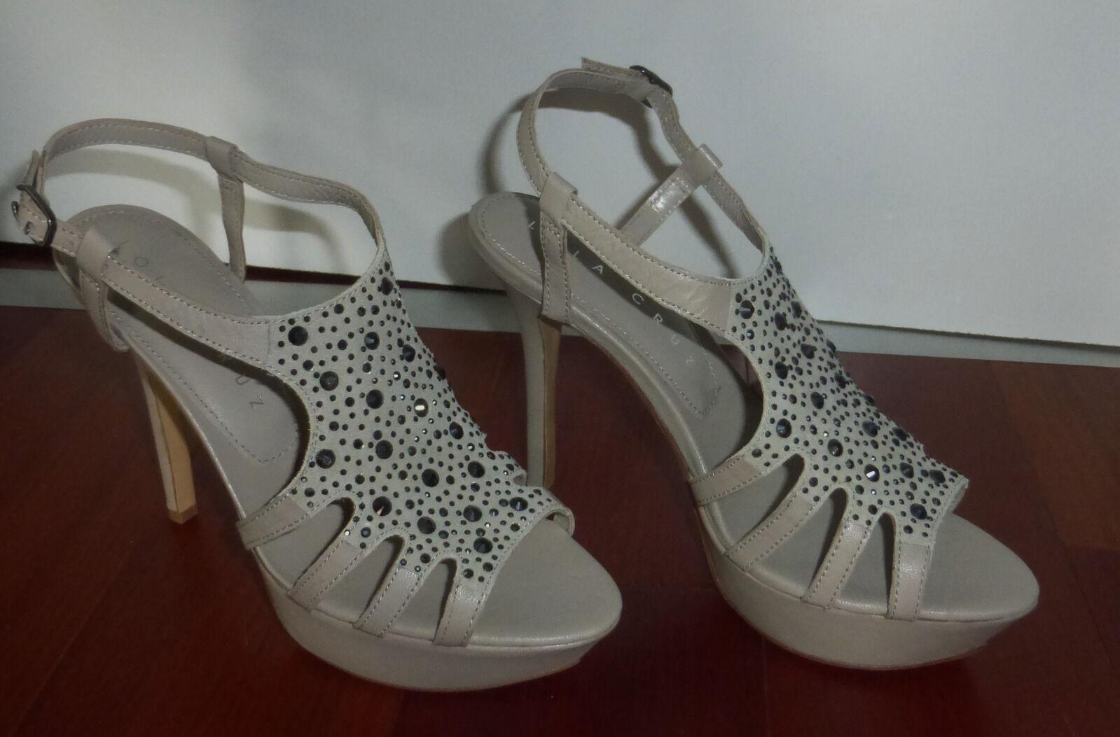 High Heels Leder Sandale Größe 40 Schuhe Plateau von Lola Cruz