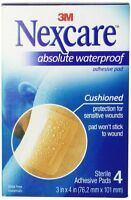 "Nexcare Absolute Waterproof Adhesive Gauze Pad 3""x4"" - 4 ct Health Aids on Sale"