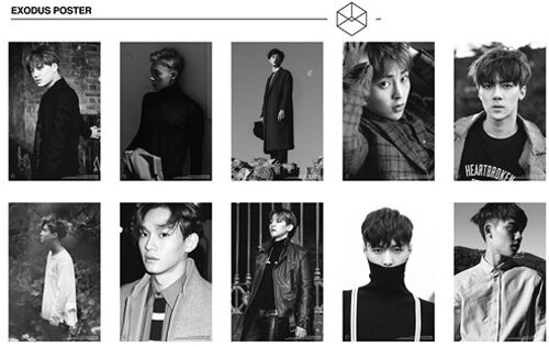 Choose Members EXO EXODUS Official Poster UNFOLDED in a Hard Tube