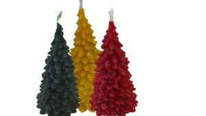 3-Large-Christmas-Tree-Candles-Various-Colours-Pure-Beeswax-made-in-UK-155mm