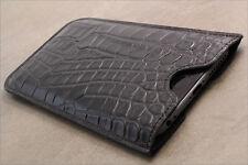 Samsung Galaxy S8 echt Leder Handytasche schwarz Case Hülle Pouch bag Etui Cover