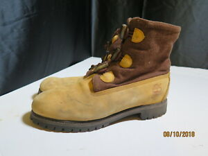c8f48ee85ef Details about Timberland TBL10061 Wool Top Leather Men's Brown Leather  Hikers Boots Size 13 M