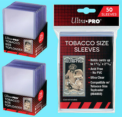 Ultra-Pro Trading Card Toploaders /& Sleeves Combo Pack For Trading Cards 50