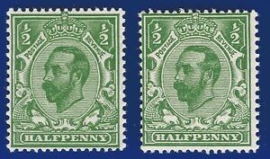 1911-SG325-d-Bright-Green-Die-B-N2-1-039-Monocle-039-unlisted-variety-MNH-afeo