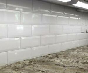 ***Instant CURBSIDE PICKUP*** Subway tile bevel 4x12  only $2.99 NEW ARRIVAL in stock beveled edge 3 COLORS IN STOCK!! Windsor Region Ontario Preview