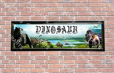 Personalized Customized The Good Dinosaurs Name Banner Wall Poster with Frame