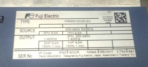 230V 3Ph Out Fuji FRN0010C2S-2U 2HP 230V 3Ph In Frenic-Mini VFD Inverter