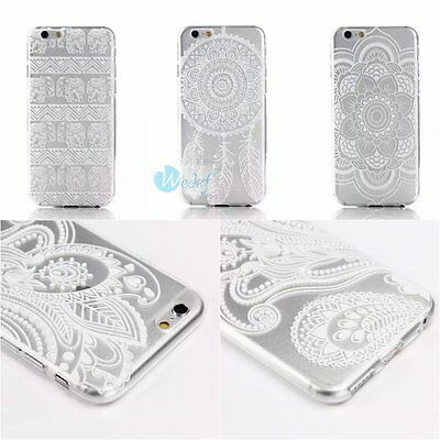 ULTRA THIN Tribal Mandala Lace TPU Gel SOFT Case Cover For iPhone 5s 6s 7 7PLUS