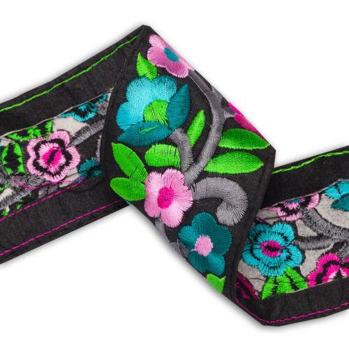Neotrims Indian Sari Border Salwar Kameez Trimming Ribbon Flower Embroidery