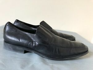 Details about BRUNO MAGLI Men Dress Shoes Black leather moccasins Classic Style size 13M