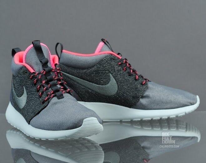 Nike ROSHE RUN ROSHERUN MID QS TOKYO CITY PACK HASTA GREY SEAWEED PUNCH PINK Sz8