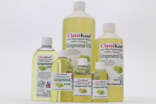 CLASSIKOOL PURE GRAPESEED OIL 100% PERFECT AS A CARRIER OR MASSAGE OIL