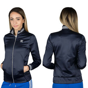 Details zu Adidas Originals Women's Retro Track Jacket TT Trefoil Shiny Glossy Slim Fit