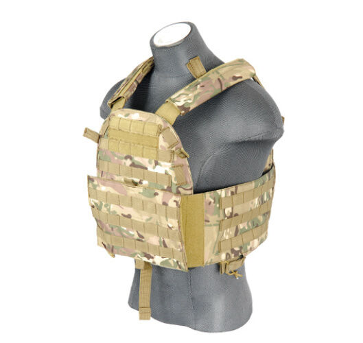 Lancer Tactical Adjustable Airsoft Military Plate Carrier Vest Camo CA-311CN   first-class service