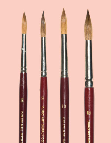 German Red Sable W.C Brush Set Sizes 7,9,11,12 List $159.NOW $49.