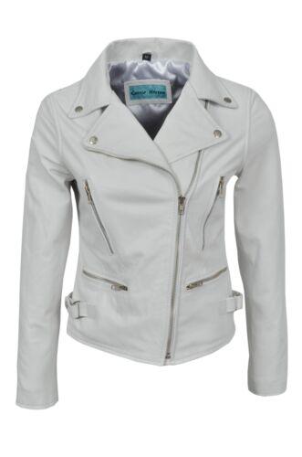de dames pour luxe cuir blanche Veste en v OPwqEnR8x
