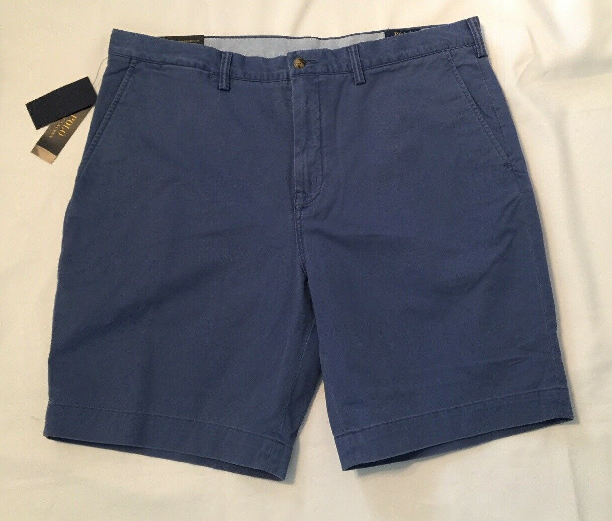 "NWT Mens Polo Ralph Lauren Classic Fit 9"" Shorts bluee Size 38"