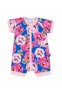 Bonds Baby Short Sleeve Zip Wondersuit Romper size 00 Colour Floral