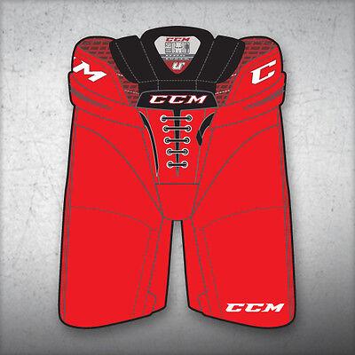 """CL ice hockey pants junior medium med red waist 24/""""-27/"""" New CCM Crazy Light U"""