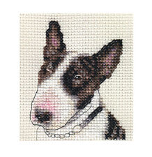 BULL TERRIER dog, puppy ~ Full counted cross stitch kit + All materials