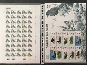 BUZIN-Oiseaux-en-timbres-Feuillets-et-feuilles-speciales-collection