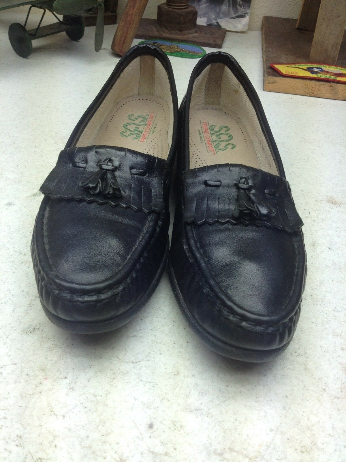 SAS USA nero  LEATHER TASSLE KILTIE SLIP SU WALDING scarpe 11  presentando tutte le ultime tendenze della moda