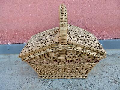 31688 Antiker Großer Trachtenkorb Weide Geflochten 1900 Vint. Basket 50x53x33cm SchöNer Auftritt