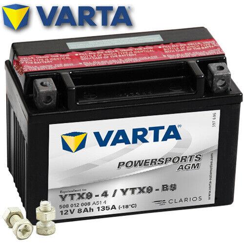 AGM Batterie suzuki gsx-r 600 js1ce WVCE Année De Construction 2006 VARTA ytx9-bs