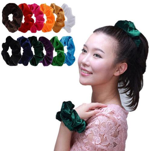 Trendy Velvet Scrunchies Ponytail Holder Hair Accessories Elastic Hair Band New