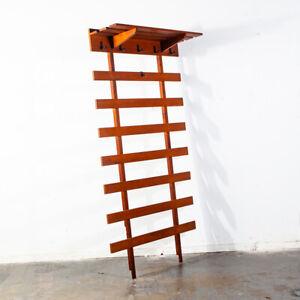 Mid Century Danish Modern Coat Rack Wall Tree Shelf Entry ...