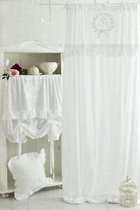 MATHILDE-WEISS-BESTICKT-Gardine-2St-x-145x250cm-Vorhang-Romantik-Shabby-Franske