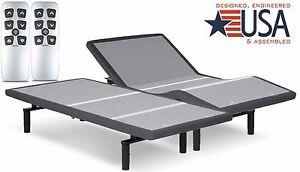 SPLIT KING FALCON 2.0 PLUS ADJUSTABLE BED W/YR CHOICE OF 10 OR 12 GEL MATTRESS
