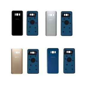 New-Samsung-Galaxy-S8-amp-S8-Plus-Rear-Glass-Back-Battery-Cover-With-Adhesive