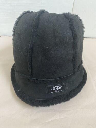 ugg bucket hat black suede