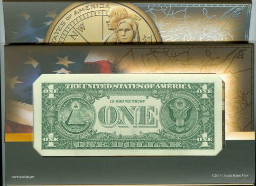 2014 D NGC SP69 Sacagawea E.R Native Hospitality Enhanced $1 Coin /& Currency