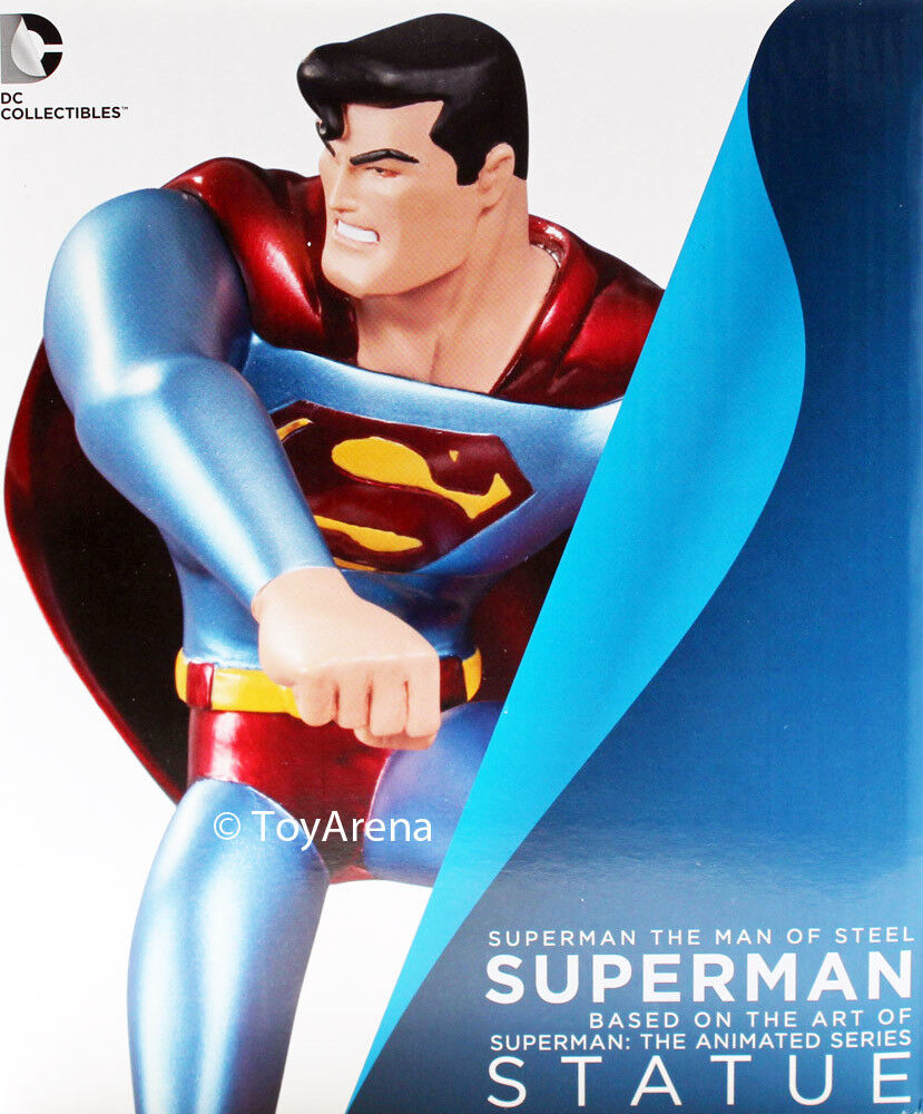Superman Man of Steel Statue The Animated Series - UK Seller