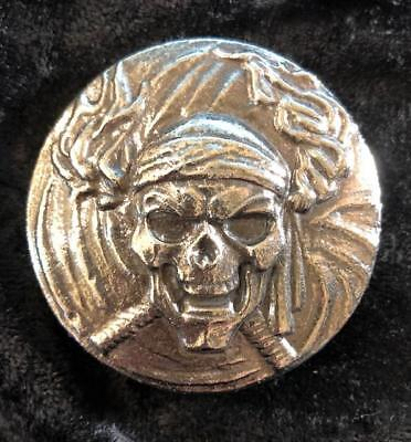 "5 Ozt MK BarZ /""Captain Calico Jack Relief/"" LTD Sand Cast .999 FS"