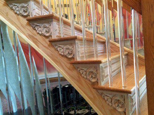"Staircase Step Decorative End Bracket 10-7//8/""W x 6-7//8/""H x 3//4/""Thick"