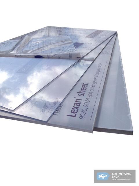 Polycarbonat (Acrylglas, Plexiglas*) 1000 x 600 x ... mm Platte farblos, Platten