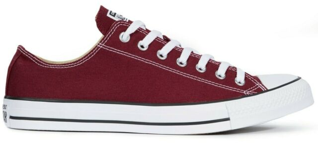 Men New Converse Chuck Taylor All Star Low Top M9691C Maroon Red Wine Shoes