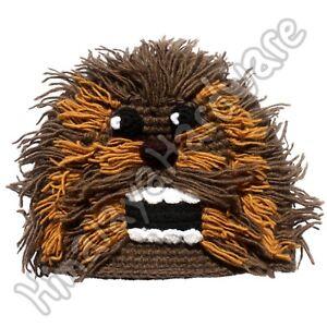 Image is loading Crochet-Wool-Chewbacca-Hat-yeti-bigfoot-snowman-beanie- ba15f124f84