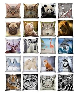 Luxury-Digital-Printed-3D-Animal-Themed-Square-Cushion-Covers-18-034-x-18-034-Cute