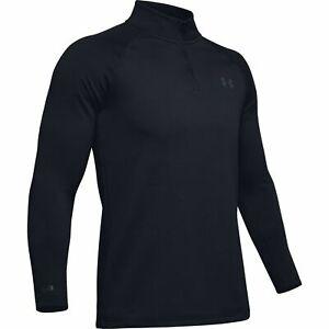 Under-Armour-1343242-Men-039-s-UA-ColdGear-Base-4-0-1-4-Zip-Baselayer-Shirt-Black