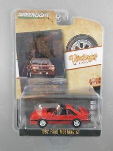 Greenlight 1:64 Vintage Ad Cars SR 3 1982 Ford Mustang GT