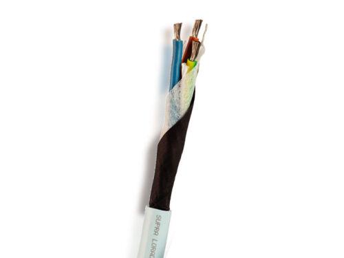 Meterware Supra Cables LoRad MK II 3 × 2.5mm² geschirmtes Netzkabel